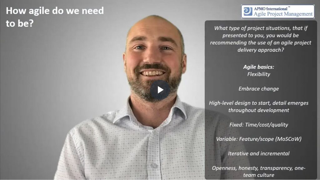 AgilePM® (DSDM) – How agile do we need to be
