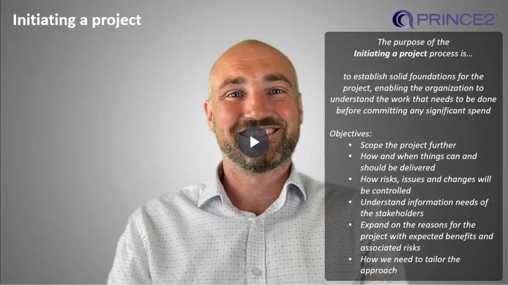 PRINCE2® – 9.4.1 – Initiating a project (IP) Introduction