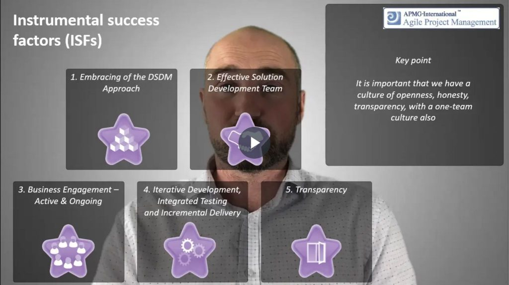 AgilePM® (DSDM) – Instrumental success factors (ISF's)