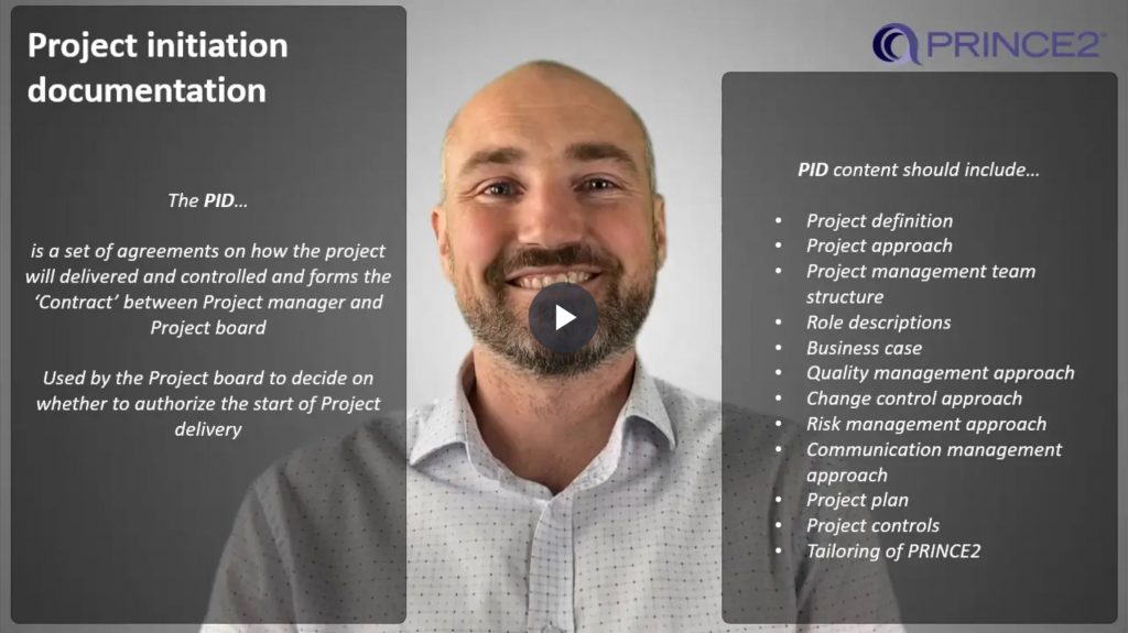 PRINCE2® – 9.4.3 – Project initiation documentation (PID)
