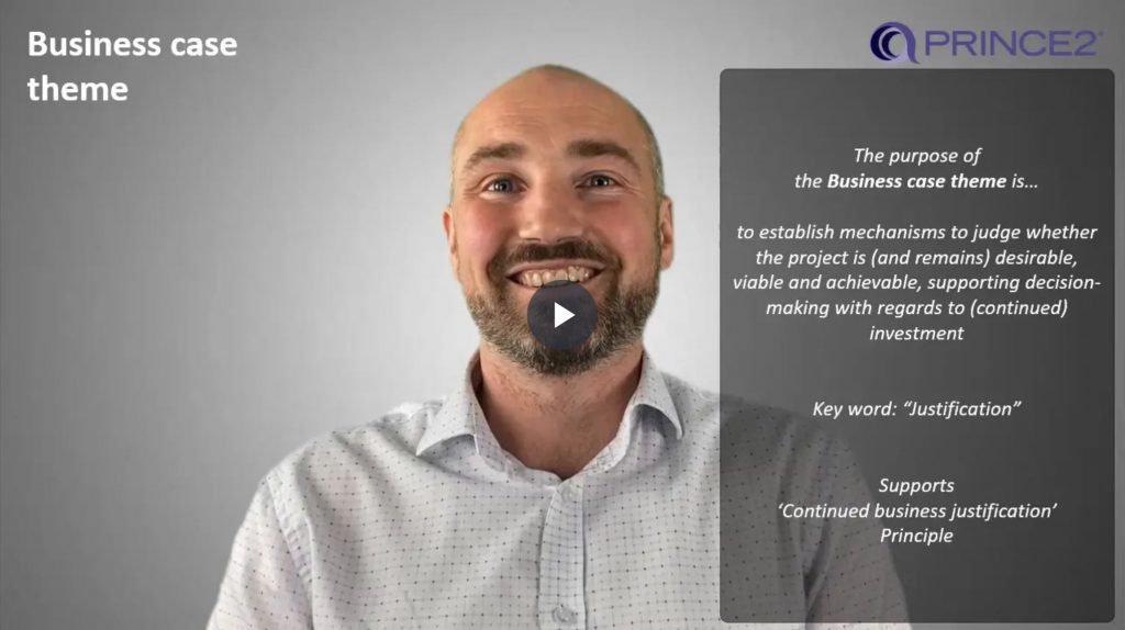 PRINCE2® – 3.1.1 – Business case theme introduction