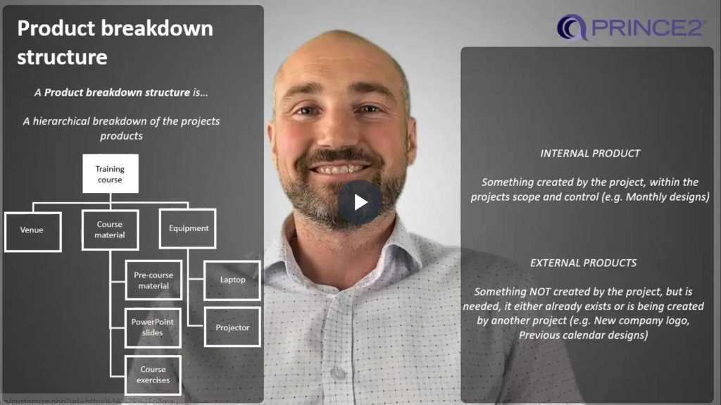 PRINCE2® – 6.3.2 – Product Breakdown Structure (PBS) – Part 1