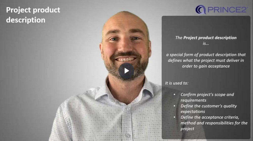 PRINCE2® – 4.4.1 – Project product description introduction