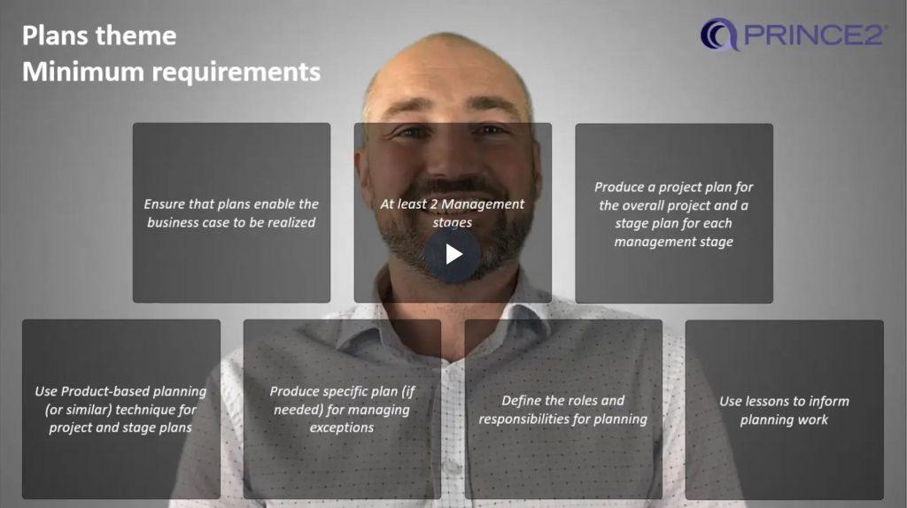 PRINCE2® – 6.1.2 – Plans theme minimum requirements