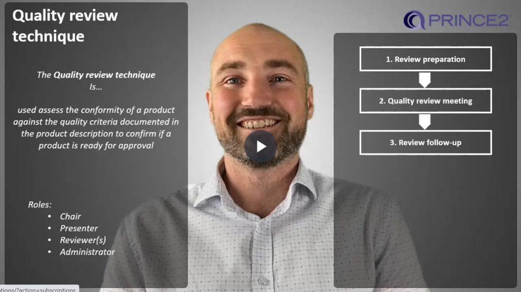 PRINCE2® – 4.2.3 – Quality review technique