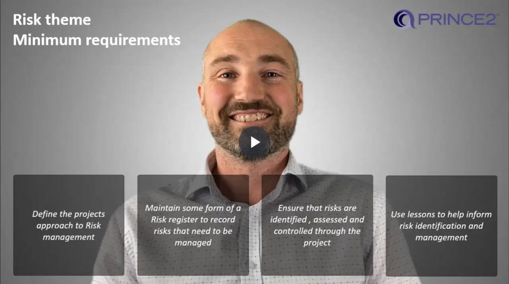 PRINCE2® – 5.1.2 – Risk  theme minimum requirements