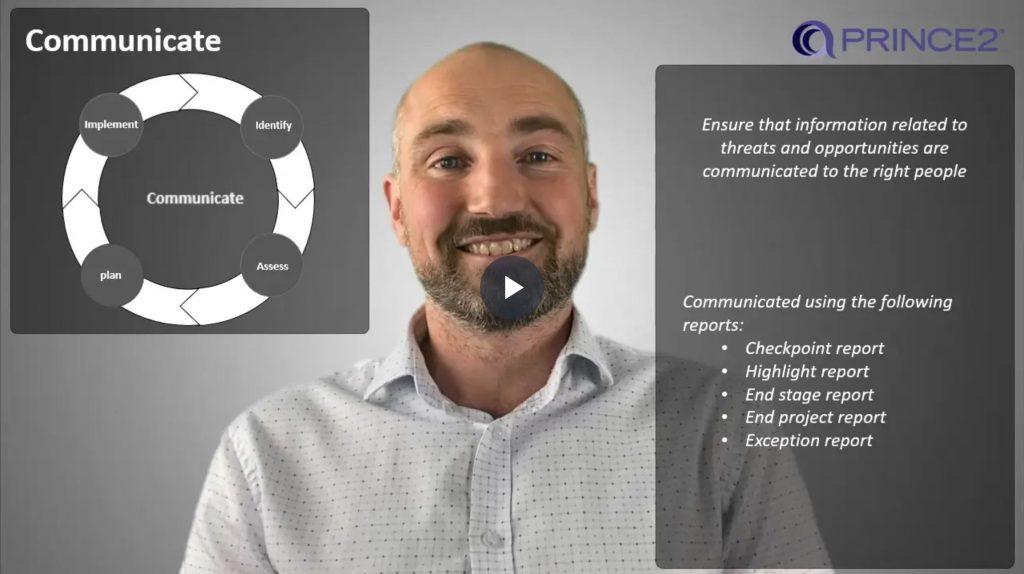 PRINCE2® – 5.2.6 – Risk procedure – Step 5 – COMMUNICATE
