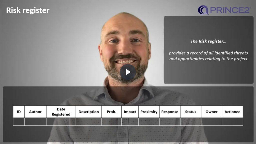 PRINCE2® – 5.3.1 – Risk register