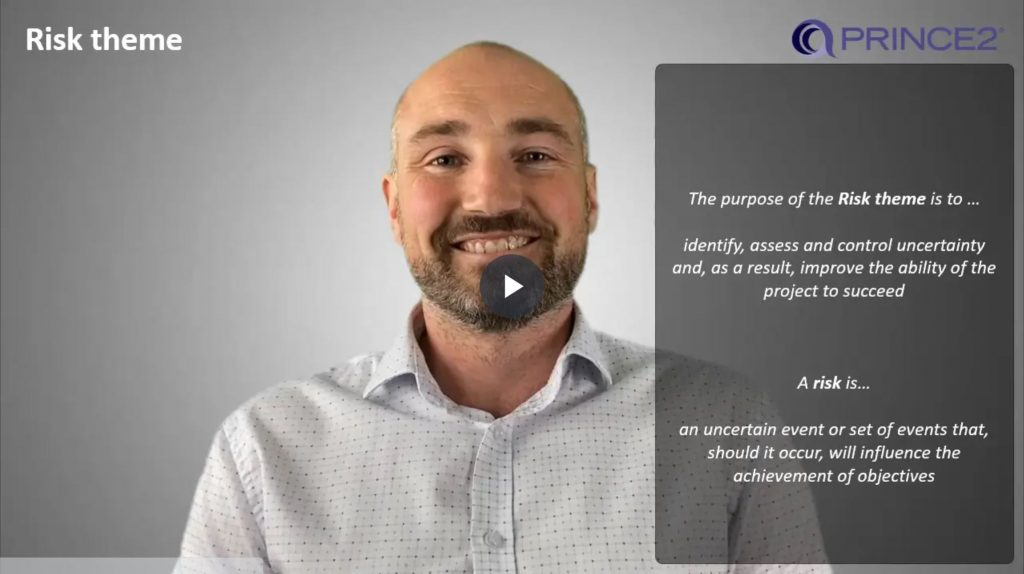 PRINCE2® – 5.1.1 – Risk theme introduction
