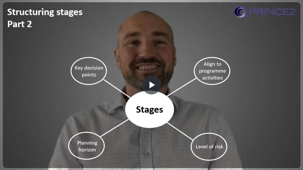 PRINCE2® – 6.2.4 – Structuring management stages – Part 2