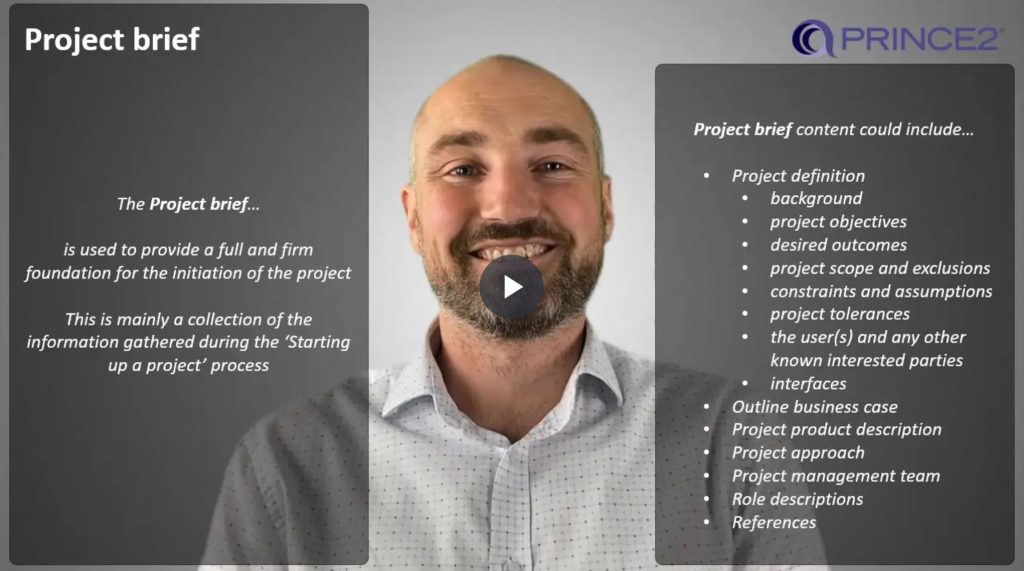 PRINCE2® – 9.2.3 – Project brief